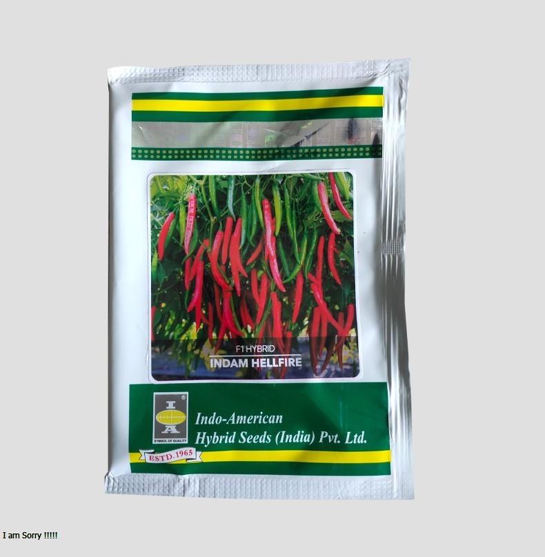 F1 Hybrid Indam Hellfire Chilli Seeds